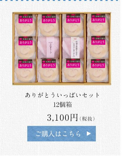 ありがとういっぱいセット 12個箱 3,100円(税抜)