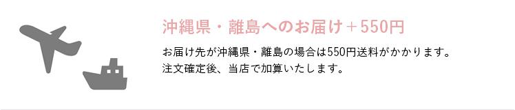 沖縄県・離島へのお届け+550円